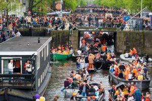 Koningsdag in Amsterdam.