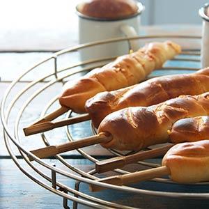 brood op een stok